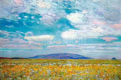 Alkali Rabbit Brush And Grease Wood Squaw Cap Oregon Trail by Frederick Childe Hassam