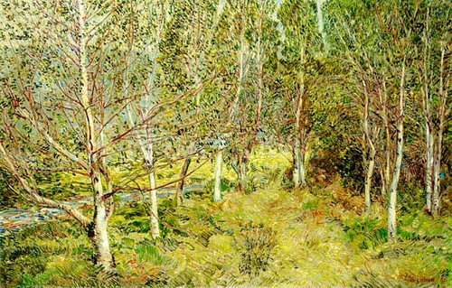 Spring Woods by Frederick Childe Hassam