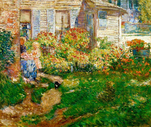 A Fishermans Cottage by Frederick Childe Hassam