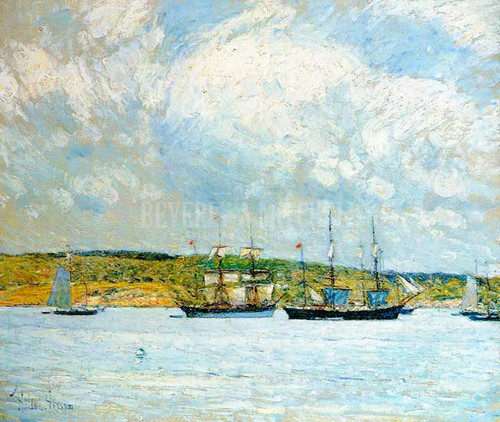 A Parade Of Boats by Frederick Childe Hassam