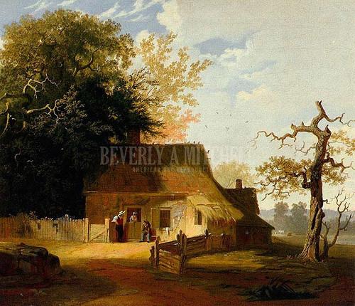 Cottage Scene by George Caleb Bingham