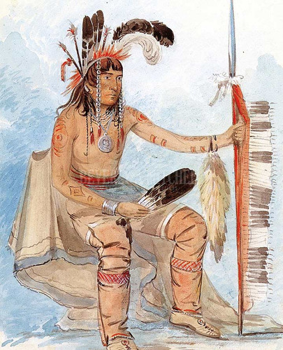 On Daig The Crow Ojibwa by George Catlin