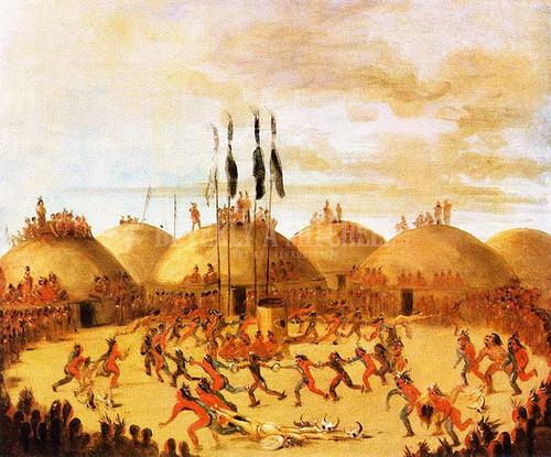 Mandan Dance by George Catlin