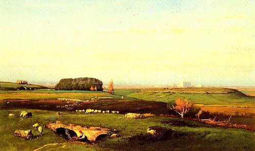 In The Roman Campagna by George Inness