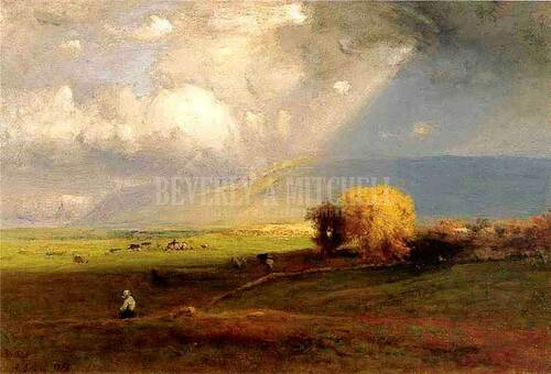 Passing Clouds (Also Known As Passing Shower) by George Inness