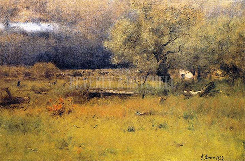 The Passing Stor by George Inness