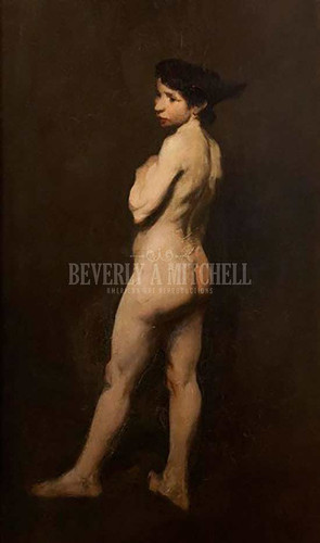Nude Miss Bentham by George Wesley Bellows