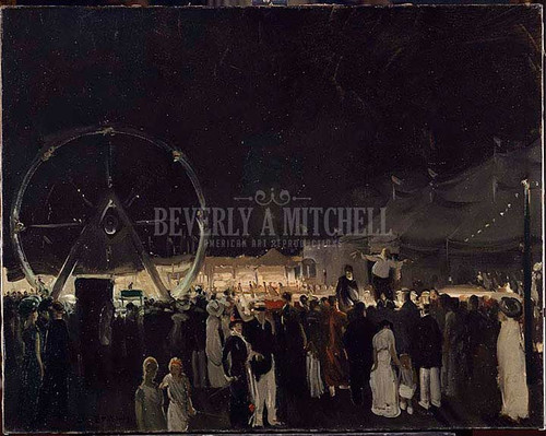 Outside The Big Tent by George Wesley Bellows