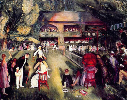 Tennis At Newport by George Wesley Bellows