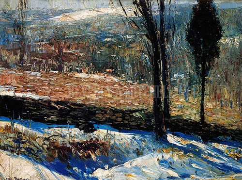 The Stone Fence by George Wesley Bellows