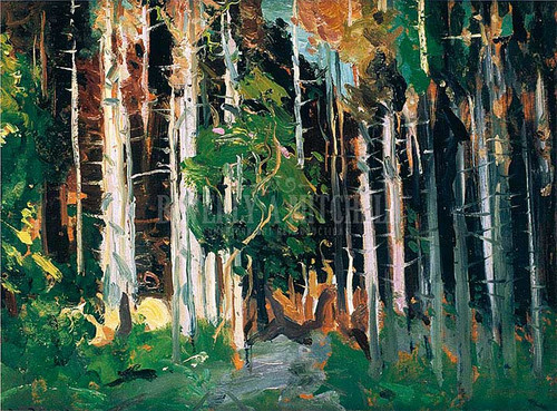 Through The Trees by George Wesley Bellows