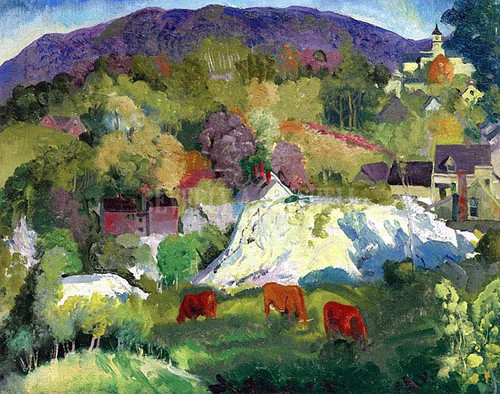 Village On The Hill by George Wesley Bellows