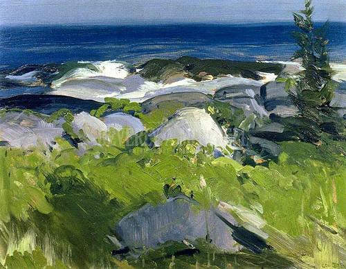 Vine Clad Shore   Monhegan Island by George Wesley Bellows