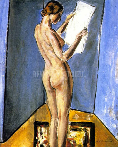 Nude Reading1 by Alfred Henry Maurer