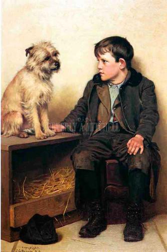 A Confab by John George Brown