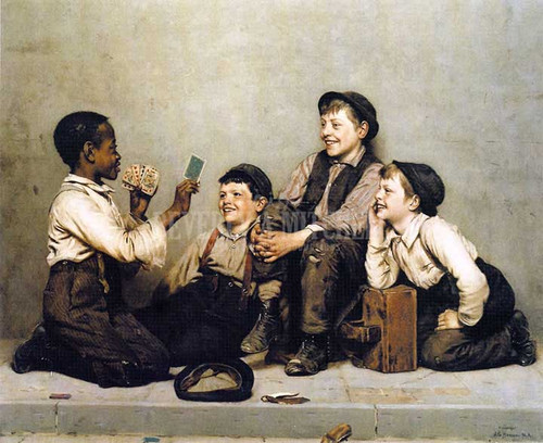 A Card Trick by John George Brown
