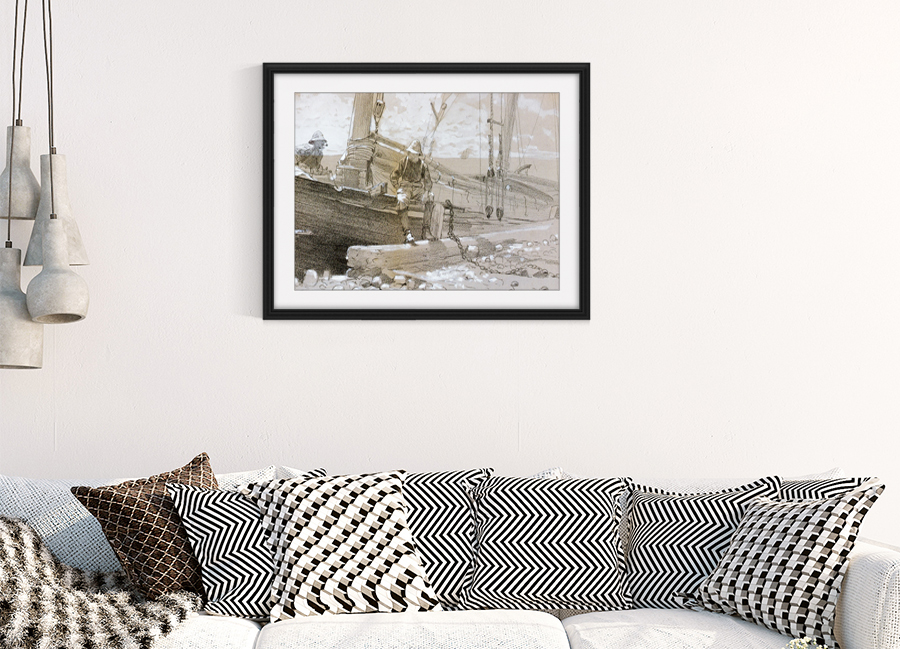 A Finished Oil Painting Reproduction Interior Design Photo
