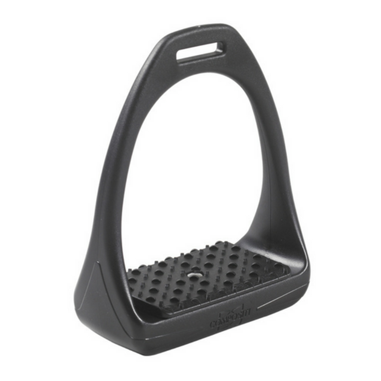 COMPOSITI REFLEX WIDE STIRRUPS WITH SHOCK ABSORBER - SOLID BLACK