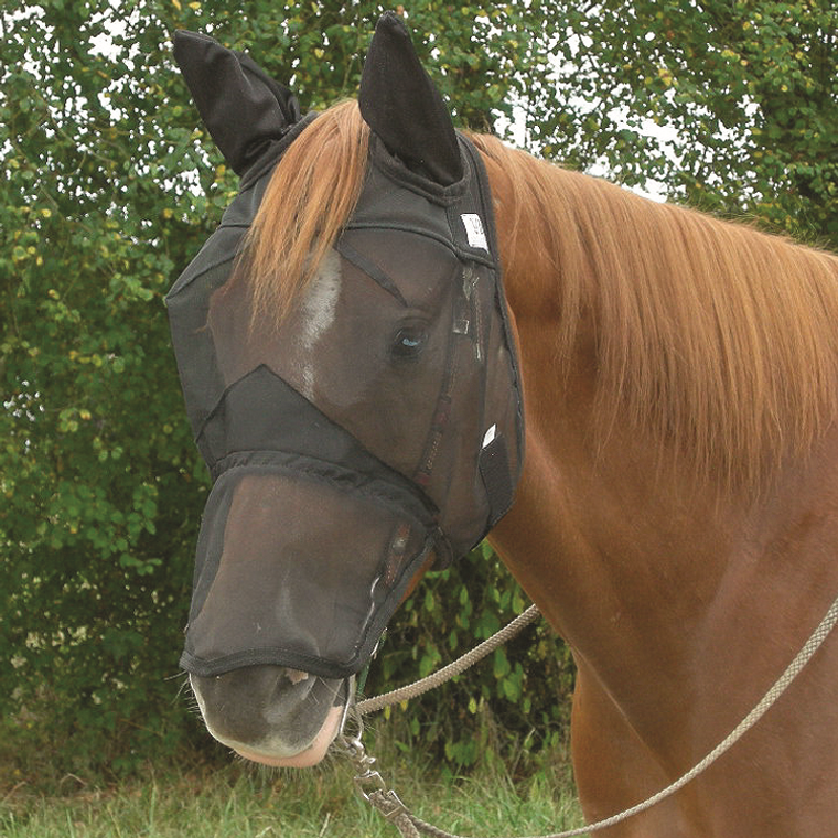 CASHEL QUIET RIDE LONG NOSE WITH EARS FLY MASK