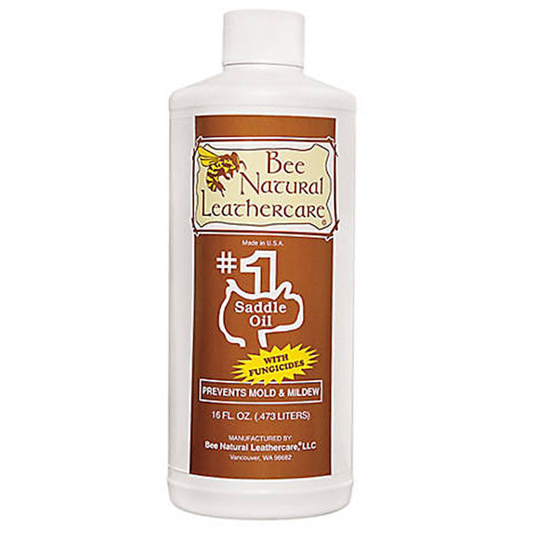 BEE NATURAL #1 SADDLE OIL WITH FUNGICIDE - 16oz