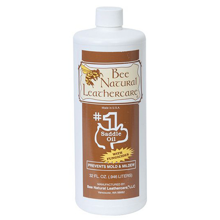 BEE NATURAL #1 SADDLE OIL WITH FUNGICIDE - 32oz