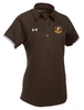 """Ladies Rival Polo - """"P"""" or """"SHIELD"""" [colors: white, gray, brown]"""