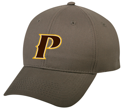 "Youth Adjustable Classic Style Baseball Cap - ""P,"" or ""SHIELD"" [colors: White, Gray]"