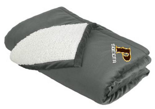 "Mountain Lodge Sherpa Blanket - ""P-SOCCER"""