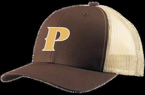 "Retro Trucker 2-Tone Baseball Cap - ""P"""