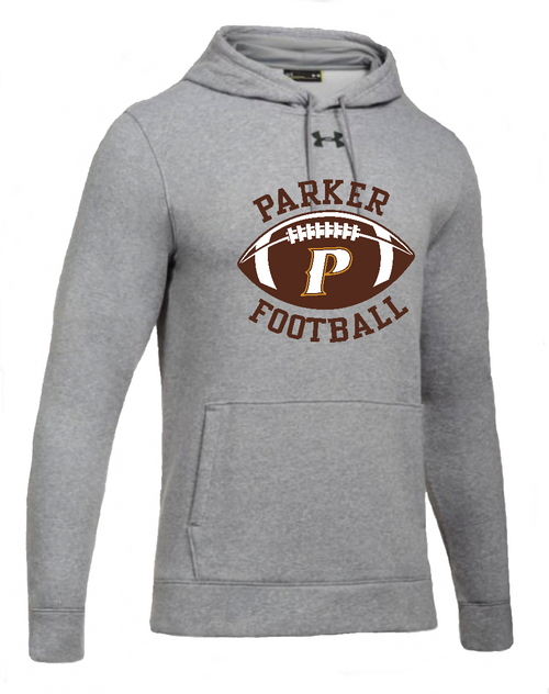 "Mens Hustle Fleece Hoody - ""PARKER W/FOOTBALL"""