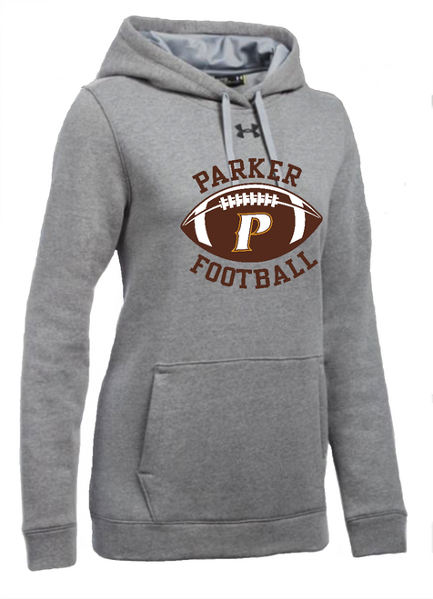 "Ladies Hustle Fleece Hoody - ""PARKER W/FOOTBALL"""