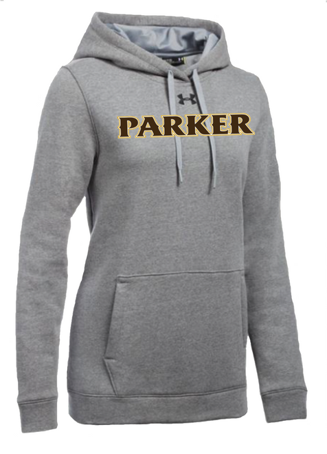 "Ladies Hustle Fleece Hoody - ""PARKER"" [colors: carbon, heather, white]"