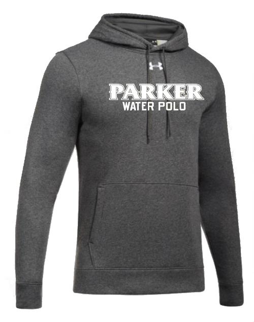 """Men's Hustle Fleece Hoody - """"PARKER WATER POLO"""" [colors: carbon, steel]"""