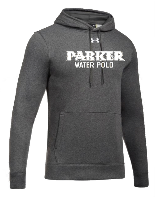 "Men's Hustle Fleece Hoody - ""PARKER WATER POLO"" [colors: carbon, steel]"