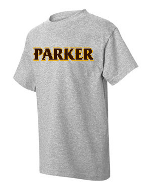 "Youth Cotton Tees -""PARKER"" (colors: brown, gold, grey, teal, white)"