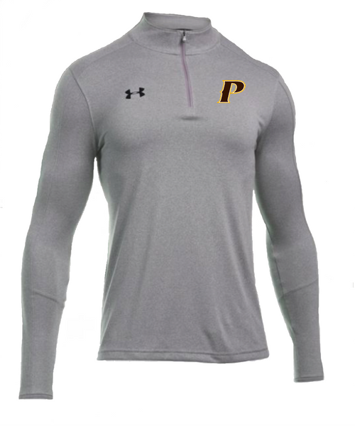 "Men's Locker 1/4 Zip - ""P"" or ""SHIELD"" [colors: graphite, steel, brown]"