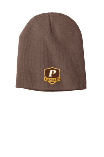 """Knit Beanie - """"SHIELD"""" [colors: Brown, Gray]"""