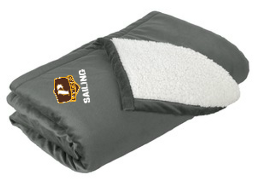 "Mountain Lodge Sherpa Blanket - ""SHIELD SAILING"""