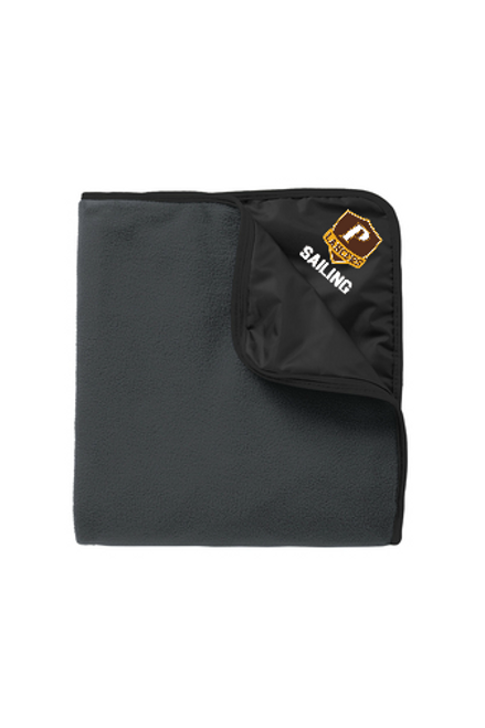 "Fleece & Nylon Travel Blanket - ""SHIELD SAILING"""