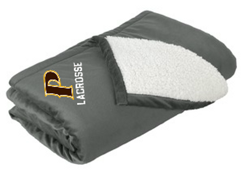 "Mountain Lodge Sherpa Blanket - ""P LACROSSE"""