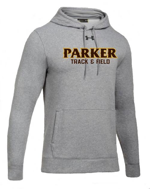 """Men's Hustle Fleece Hoody - """"PARKER TRACK & FIELD"""""""