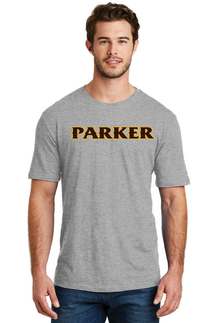 "Men's Blended Tee - ""PARKER"" [colors: brown, carbon, heather, teal, white]"