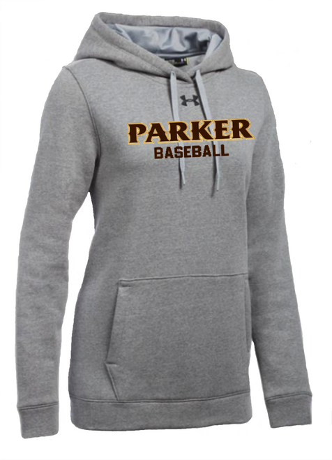 "Ladies Hustle Fleece Hoody - ""PARKER BASEBALL"""