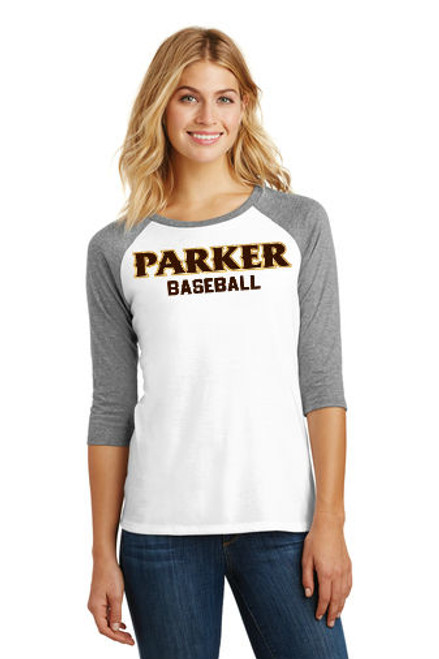 "Ladies 3/4 Sleeve Tee - ""PARKER BASEBALL"""
