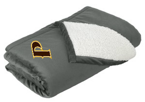 "Mountain Lodge Sherpa Blanket - ""P"""
