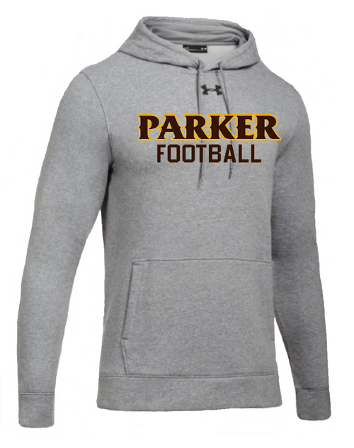 "Men's Hustle Fleece Hoody - ""PARKER FOOTBALL"""