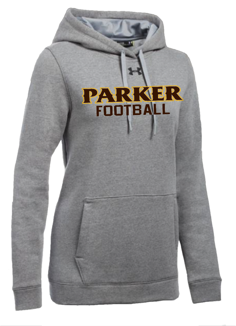 "Ladies Hustle Fleece Hoody - ""PARKER FOOTBALL"""