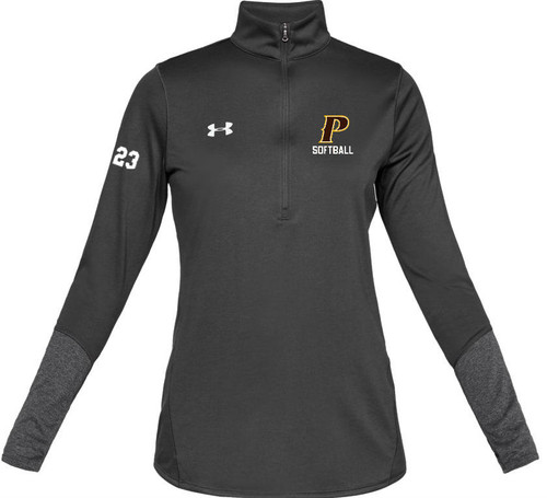 "Ladies Locker 1/2 Zip - ""P - SOFTBALL"""