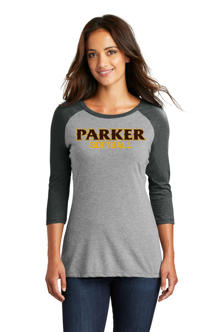 "Ladies 3/4 Sleeve Tee - ""PARKER SOFTBALL"""