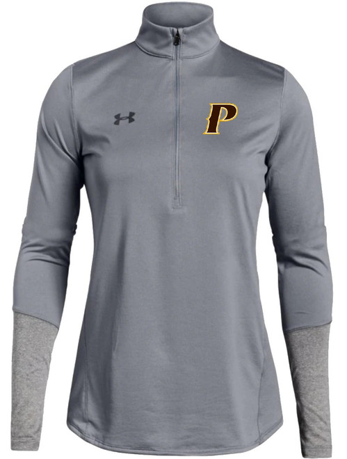 "Ladies Locker 1/2 Zip - ""P"" or ""SHIELD"" [colors: brown, carbon, gray, white]"